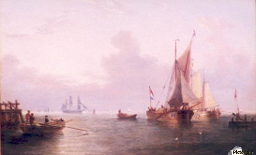 Shipping off a Dutch Port  Print